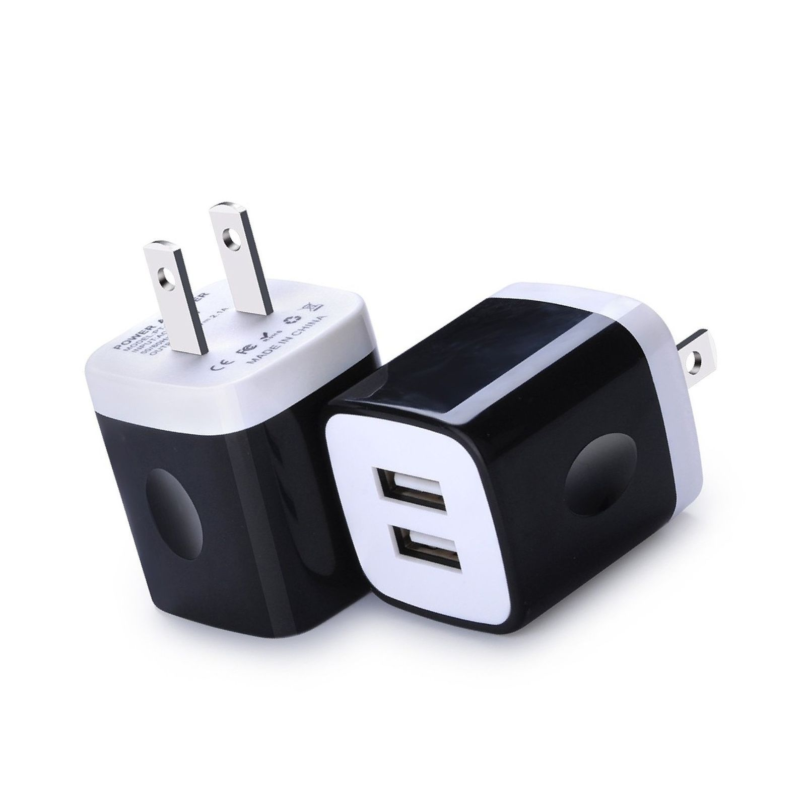 Wall Charger, Charging Block Brick, FiveBox 2-Pack Dual Port 2.1A USB Wall Ch...