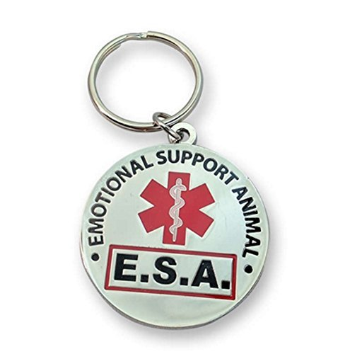 WORKINGSERVICEDOG.COM Official Emotional Support Animal ESA Round Hanging ID Tag