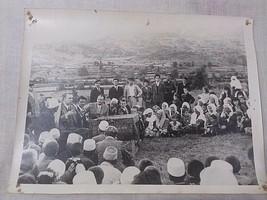 old photo of communist area-propaganda-PPSH-Enver Hoxha knee on knee wit... - $9.90