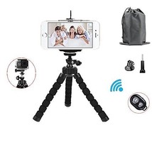 Universal Octopus Stand Tripod Mount Bluetooth Remote Shutter Mini Phone... - $11.99
