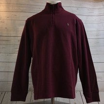 Polo Ralph Lauren Red Rib Half Zip Pull Over Sweater Color Pony NWT Mens Size XL - $57.15