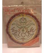 "Bead Wickery Kit 10"" Wall Decoration Welcome Angel Iron On Transfer Hoop #1430 - $7.69"