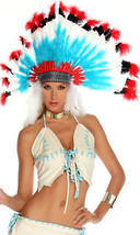 Forplay Native American Indian Chief Feather Headress Costume Accessory ... - $49.99