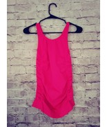 Women's Morera ruched side sleeveless hot pink tank athletic top size M - $9.49