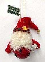 Santa or Snowman Bell Ornament (Santa) - $10.00