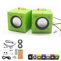 2CH 5V DIY Mini Dual Channel Amplifier Speaker Kit 69x69x69mm 3W Per Spe... - $21.00