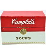 Campbell's Soup Recipe Card Metal Tin Box Vintage 1970's Free Shipping - $23.75
