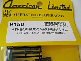 American Limited #9150 Athearn/MDC Harriman Black Diaphragms for 1 Car HO-Scale image 1
