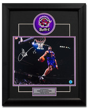 Vince Carter Toronto Raptors Autographed Dino Jersey Windmill Dunk 23x19... - $205.00