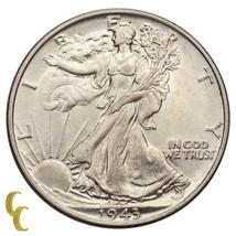1943 Walking Liberty Silver Half Dollar 50C (Gem BU Condition) Super Eye Appeal! - $64.35