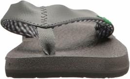NEW Sanuk Women's Ebony Black Charcoal Yoga Mat Flip-Flop Beach Sandals Slippers image 2