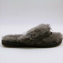 UGG Womens Fluff III Fur Flip Flop Sandals Gray Rubber Sole Bow Accent 9... - $59.39