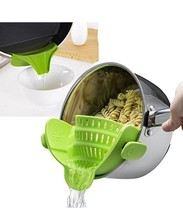 SNAP'N STRAIN *Buy American* Clip-on Silicone Kitchen Pan Strainer - $28.90