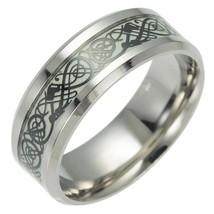 8mm Black   Tungsten Ring Red Celtic  Black Carbon Fiber Ring Men's Jewe... - $19.49