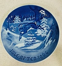1964 Bing & Grondahl Christmas Plate The Fir Tree & Hare Denmark Danish ... - $24.26