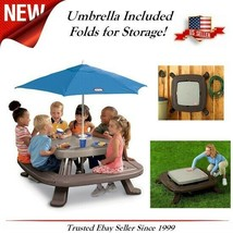 Toddler Little Tikes Child Picnic Play Outdoor Table Storage INCLUDES Um... - $280.94