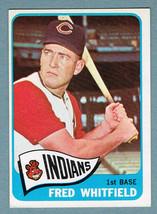 1965 Topps #283 Fred Whitfield Cleveland Indians 1st Baseman Baseball Card - $2.00