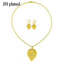 leaf jewelry set gold color African good gift for women or lovely girls - $21.23