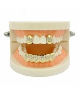 Teeth Grillz Custom Fit Yellow Gold Color Plated Single Crystal Cap Toot... - $13.99