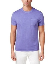 Club Room Men's Crew Neck Chest Pocket T Shirt Cool Purple Size Large - £8.54 GBP