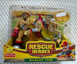 NEW 2003c FISHER PRICE WILDLIFE JUNGLE RESCUE HEROES MOE ZAMBEEK & SPOTT... - $100.00