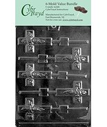 CybrTrayd R023-6BUNDLE Cross Lolly Chocolate Candy Mold with Exclusive C... - $7.92