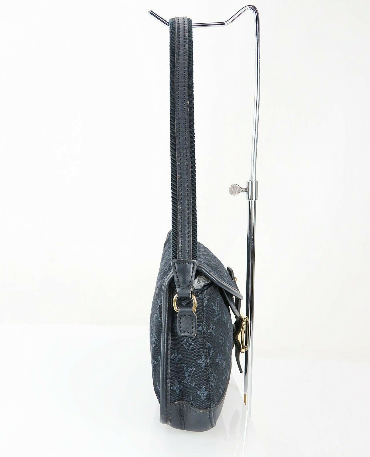 Authentic LOUIS VUITTON Marjorie Blue Monogram Mini Lin Shoulder Bag #34709 image 4