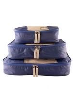 Mancini Bagages Emballage Cube Set Of 3 S M L Bleu - $19.76