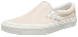 New Vans Unisex Classic Slip On Leather Pink True White Skate Shoes Mens 8.5 - $49.95