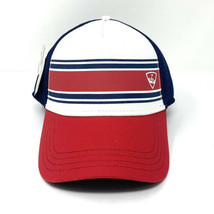 CALLAWAY GOLF STRIPE MESH CAP / HAT FITTED SIZE: S/ WHITE/NAVY/RED 5218330 - $14.01