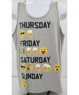 Emojinx Thursday Friday Saturday Sunday Emoji Beer Drinking Tank Top Men... - $23.33