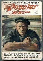 Popular Pulp Magazine December 7 1920-Theodore Seixas Solomons-Edgar Wallace - $63.05