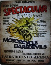 """Evil Knievel-Motorcycle Daredevils Metal Sign ( 15"""" by 12"""") - $19.95"""