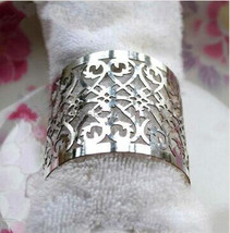 120pieces Laser cut Silver Napkin Ring,paper Towel Wrappers,Party Decora... - $40.80