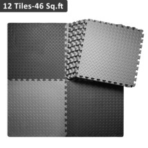 Interlocking Foam Mat, Gym Yoga Mat Puzzle Exercise Mat with EVA Foam 4... - $73.76