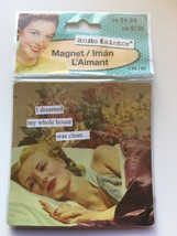 Anne Taintor Square Refrigerator Magnet - 3-3/8-Inch square, Dreamed Hou... - $5.60