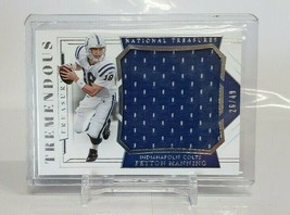 2018 Panini National Treasures Tremendous/49 #TT-PM Peyton Manning Footb... - $28.05