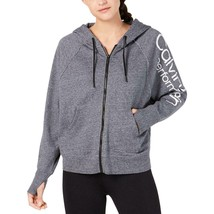 Calvin Klein Performance Women's Fitness Running Hoodie Medium  Charcoal - $49.99
