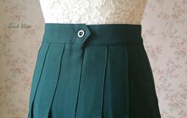 Women Girls Campus Style Pleated Mini Skirt School Skirt, Black White, Plus Size image 13