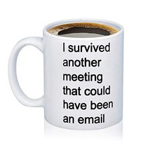 Coworker Gift I Survived Another Meeting That Should Have Been An Email ... - $20.56