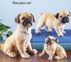 Pug Family Set Figurines - $22.75
