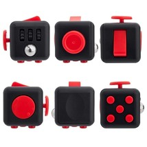Black Red Fidget Cube Dice Anxiety Stress Relief Better Focus Toys Hobbi... - $14.80