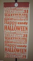 "New Storehouse 100% Cotton Table Runner 18"" x 80"" Halloween Theme Ivory/Orange image 1"