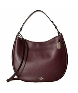 NWT COACH Nomad Hobo in Glovetanned Leather Handbag in Oxblood/Red - $235.22