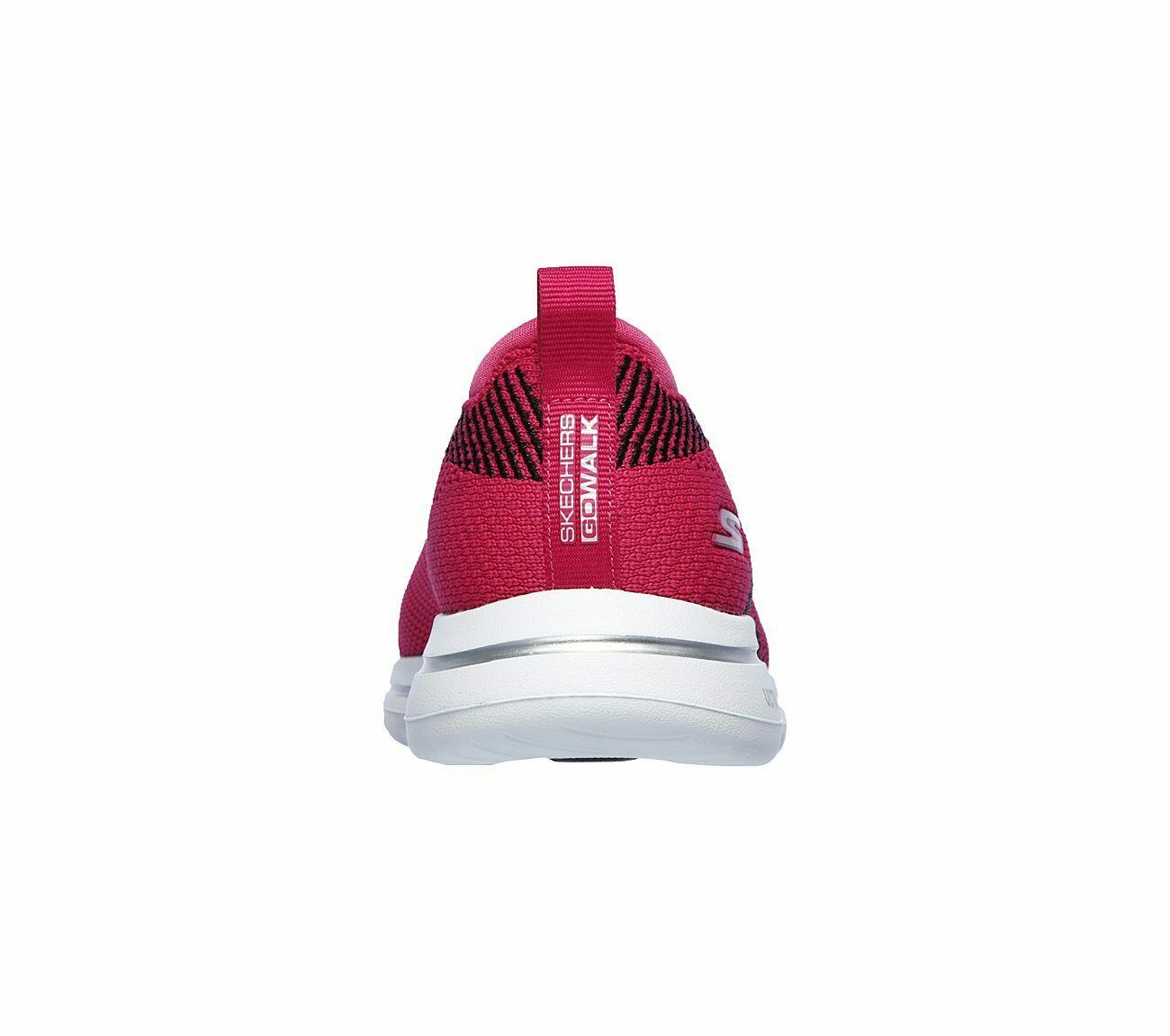 Skechers Shoes Pink Black Go Walk 5 Women's Casual Slip On Comfort Sporty 15900 image 6