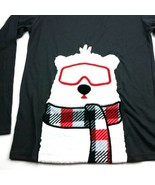 Cat & Jack Girls Youth Large 12 14 Sleep Wear Soft Polar Bear Gray LS T-... - $6.23