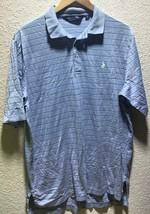 Polo Golf Ralph Lauren Blue Striped Short Sleeve Pima Cotton Shirt Men's... - $19.99