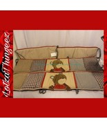 "CoCaLo Teddy Bear ""Buttons"" Brown Red 4 PC Crib Bumper Set - $34.64"