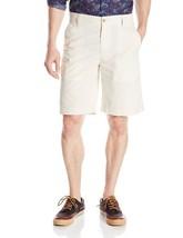 $60 IZOD Saltwater Flat-Front Shorts, Stone, Size 32. - $29.69