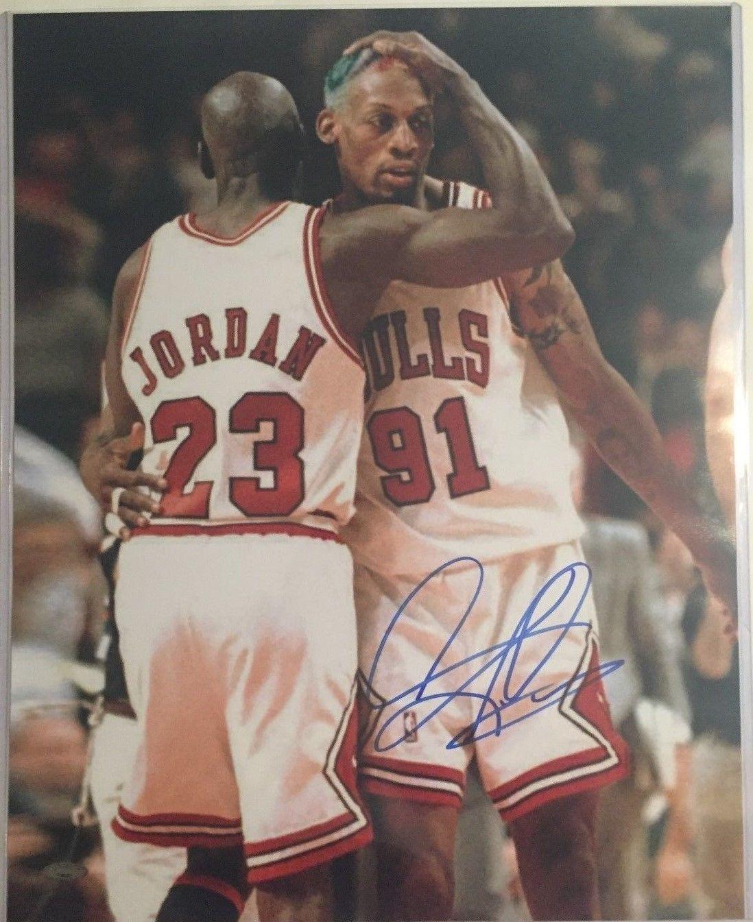 Dennis Rodman Autographed Chicago Bulls 16x20 Photo 3 Tristar Authenticated